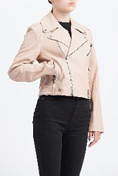 Куртка Alice + Olivia Cody Crop Lamp Leather Moto Jacket