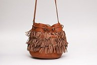 Сумка See By Chloe Vicki Fringe Leather Bucket Bag