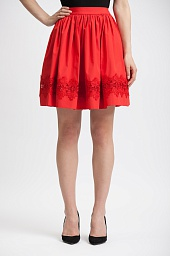 Юбка Alice + Olivia Tania Lace-Inset Pouf Skirt