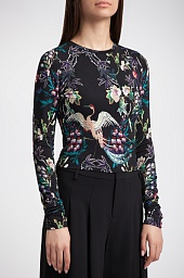 Топ Alice + Olivia Delaina Floral Cropped Top
