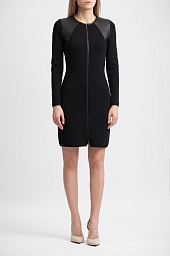 Платье Ralph Lauren Zip-Front Long Sleeve Dress