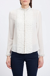 Блузка Alice + Olivia Arminda Button-down Chiffon Blouse