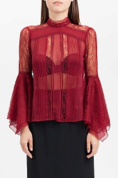 Блузка  Alice + Olivia Ivy Handkerchief-Sleeve Top