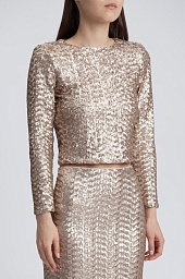 Топ Alice + Olivia Lebell Sequin Crop Top