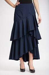 Юбка Alice + Olivia Martina Ruffle Hi-Low Maxi Skirt